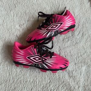 Toddler Size 9 Pink Umbro Soccer Cleats
